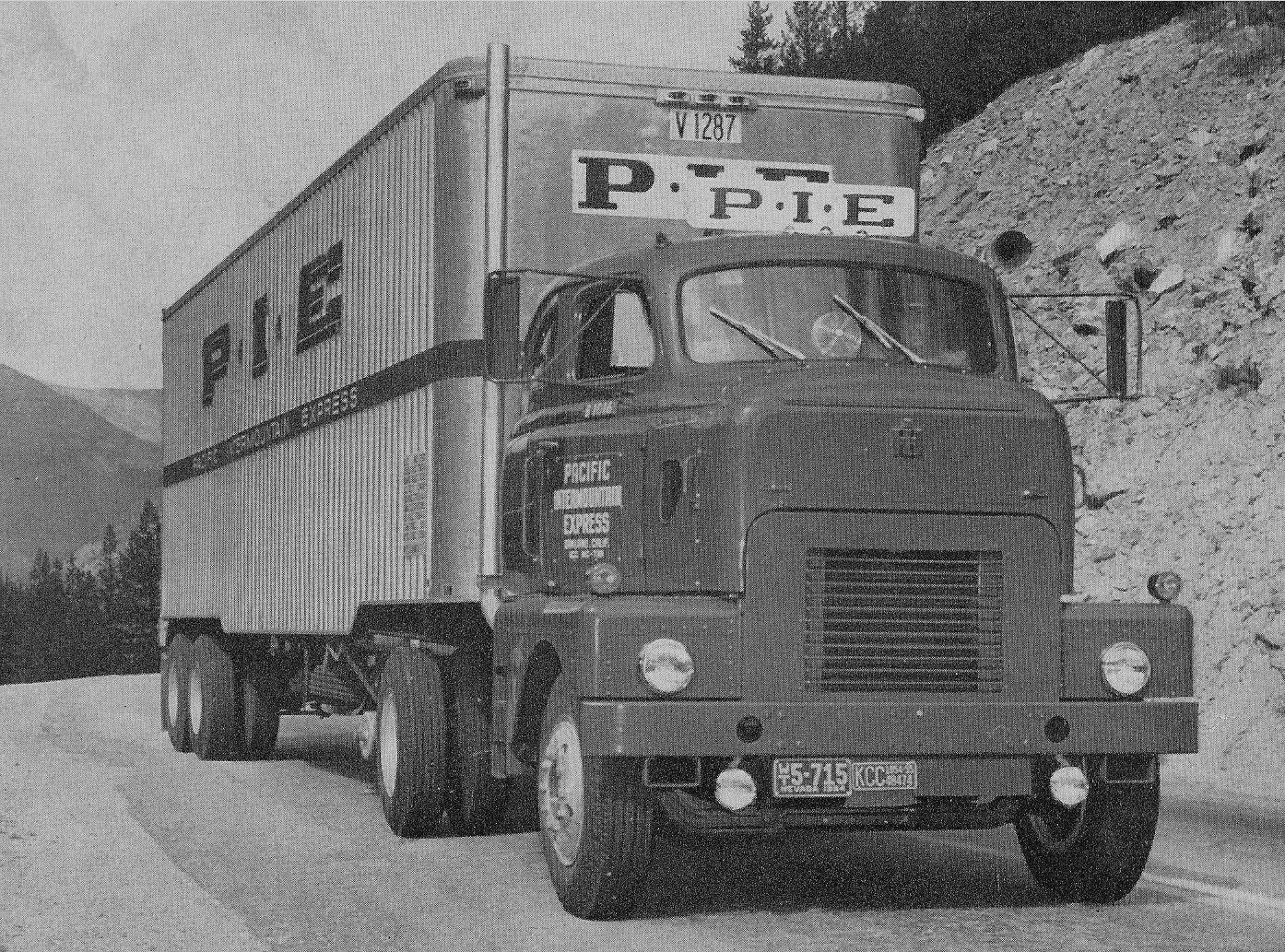 1955 Ih Dc 405 L Pie International Truck Vintage Trucks Trucking Companies