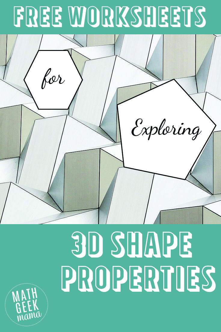 3-D Shapes Worksheets | Math | Pinterest | 3d shapes, Shapes ...