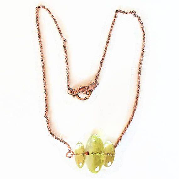 Lemon quartz necklace chain necklace bar pendant necklace beaded lemon quartz necklace chain necklace bar pendant necklace beaded necklace rose gold pendant unique pendants lemon jewelry pendant aloadofball Image collections