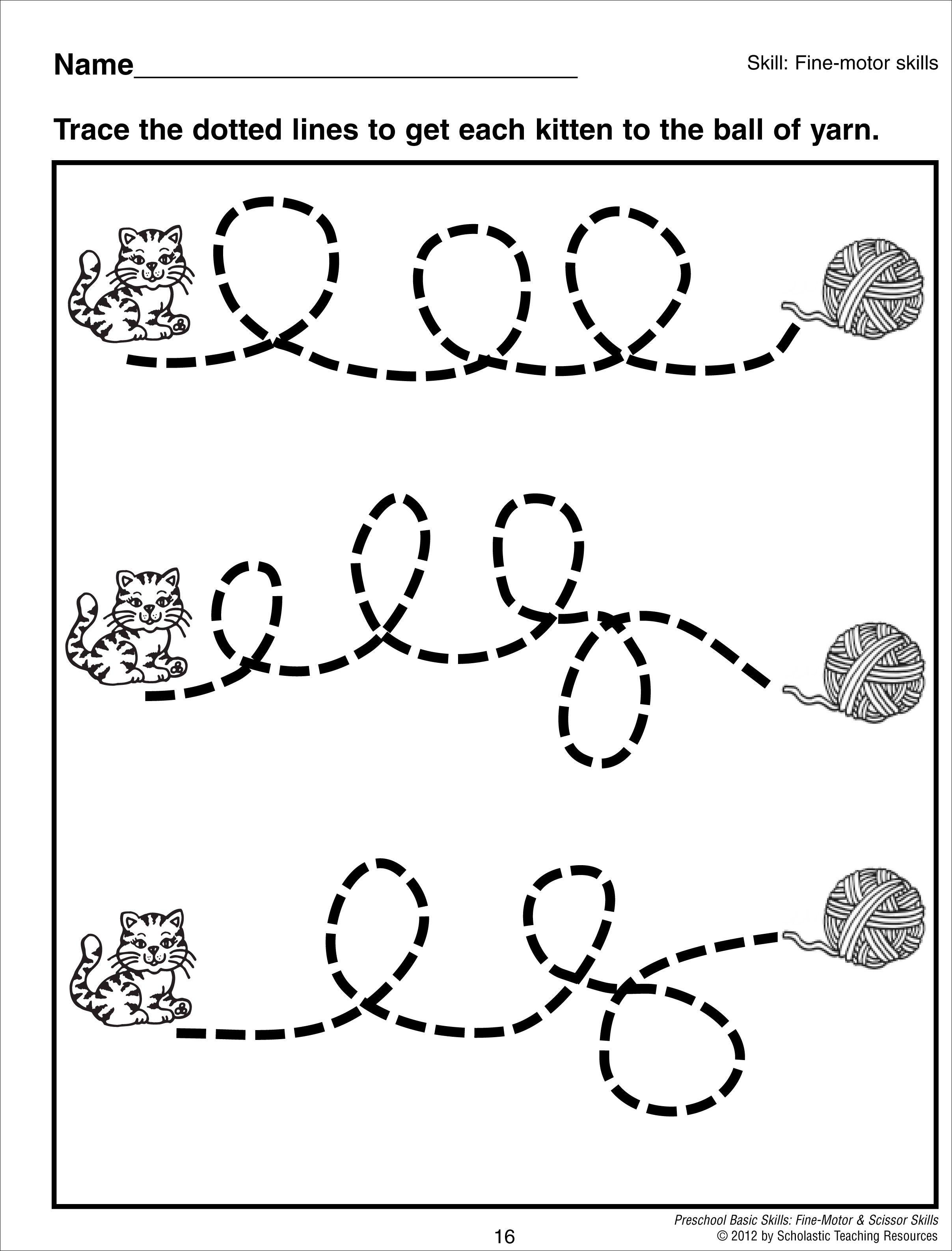 Tracing Curvy Lines Preschool Basic Skills Fine Motor