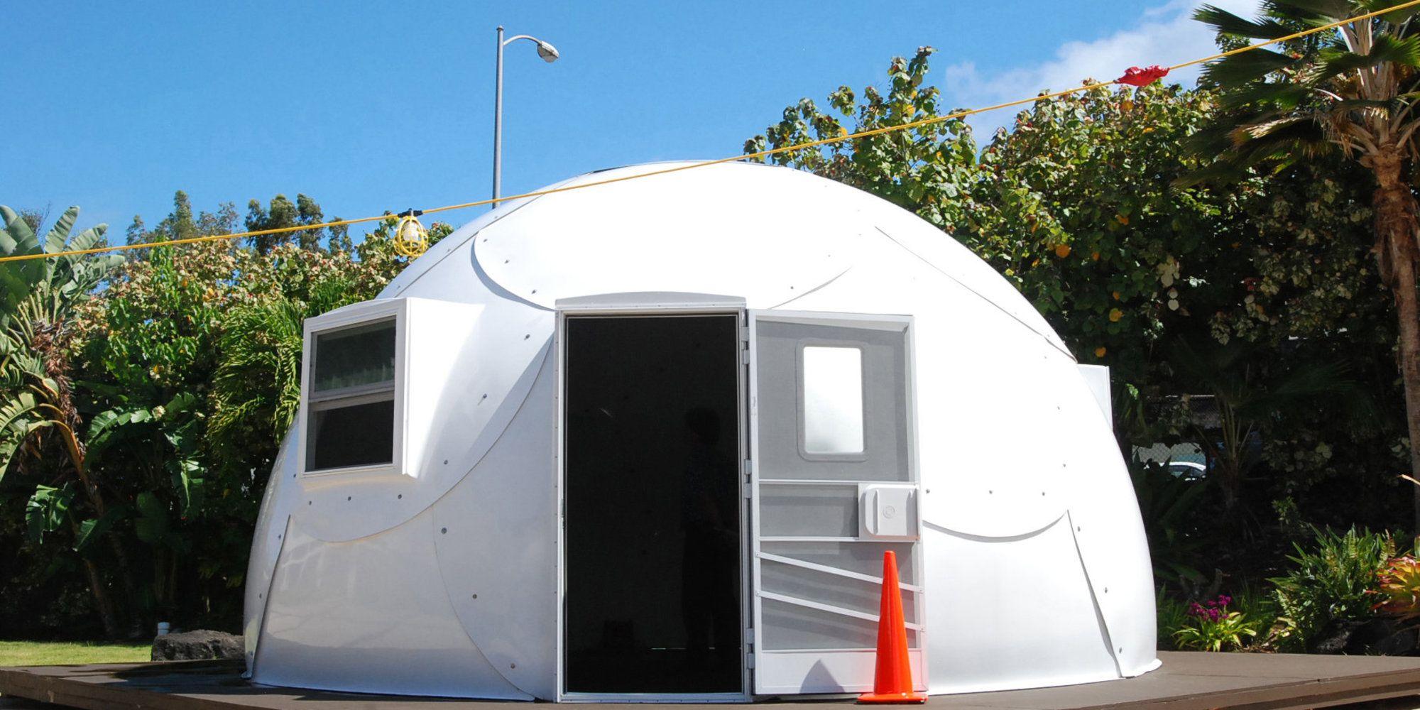 Hawaii Is Using Igloos To House Homeless Dome House Homeless Housing Homeless Families