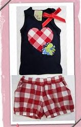 Twirls and Twigs Southern Kisses Tank & Check Short Set