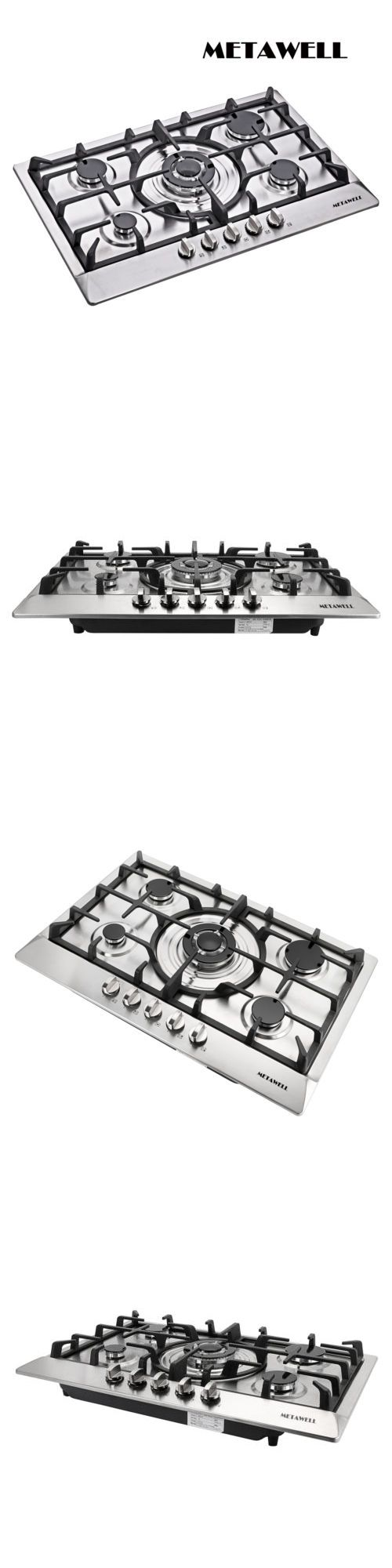 Cooktops 71246 Metawell 3kw 30 Gas Stainless Steel Cooktop Stove Cook Top 5 Burner Silver U Stainless Steel Cooktop Stackable Washer Dryer Dimensions Cooktop