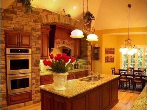 Earthy Colors warm inviting tuscan kitchen paint colors | lightwavedesigns