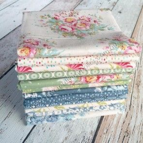 Tilda Painting Flowers Fat Quarter Set 12pce