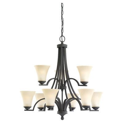 Sea Gull Lighting Somerton 9 Light Shaded Chandelier Bulb Type: Incandescent A19 60W