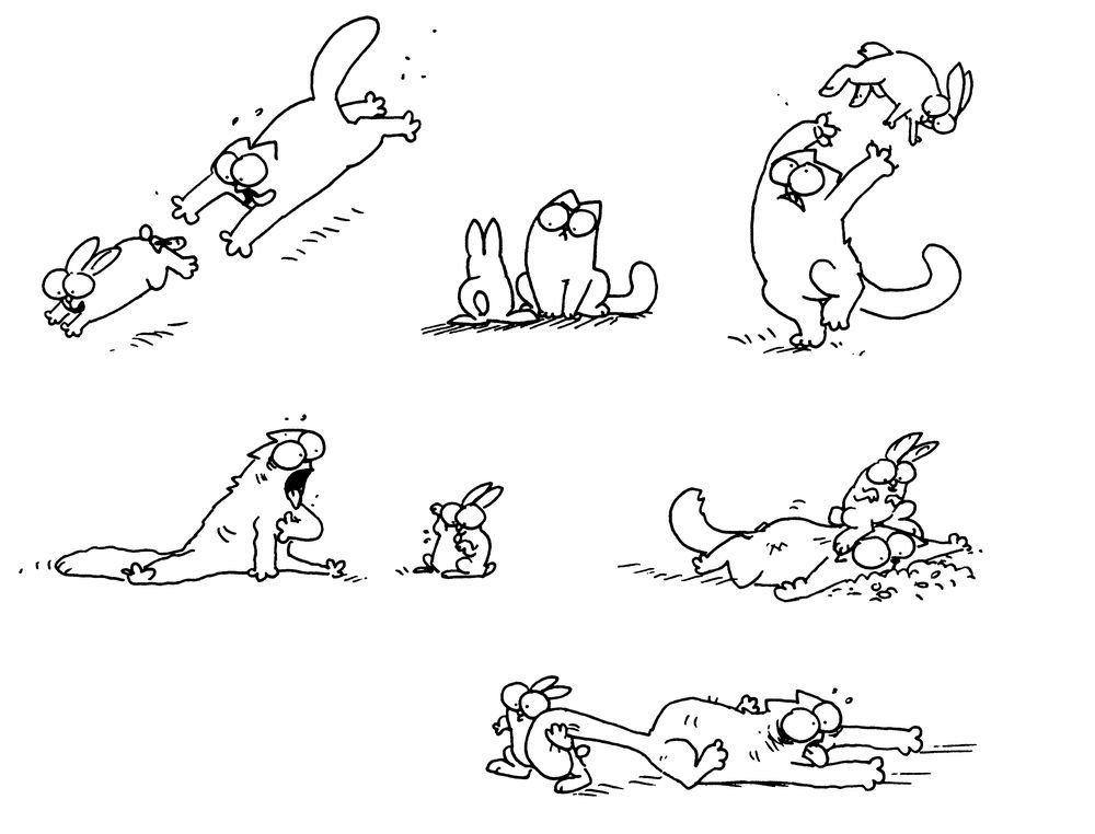 Прикольные рисунки про кота саймона