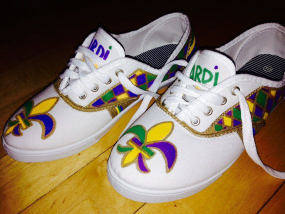 Mardi Gras Shoes / Sneakers on Etsy