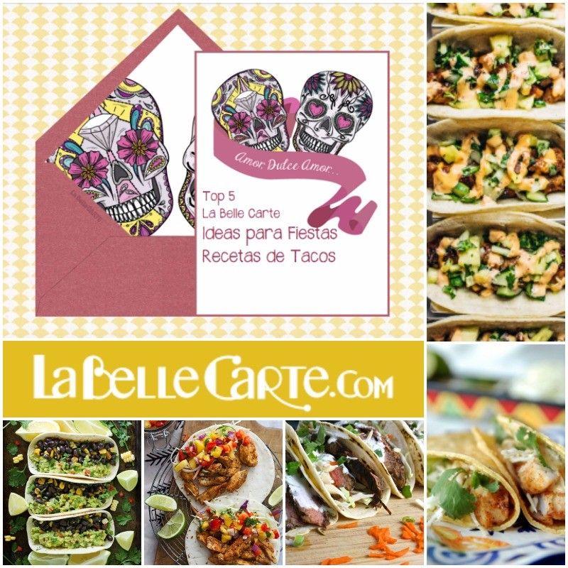 Invitaciones Para Cenar Recetas De Tacos Fiesta Mexicana Ms Info Visita LaBelleCarte Online Invitations Cards Recipes