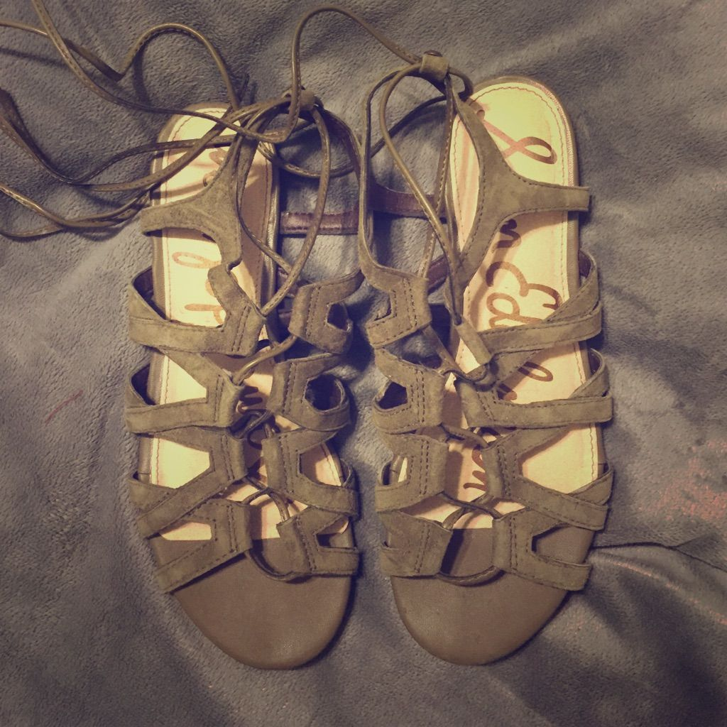 "Sam Edelman """"Boyden"""" Lace Up Sandals"