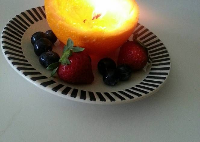 orange candle Recipe -  Yummy this dish is very delicous. Let's make orange candle in your home!