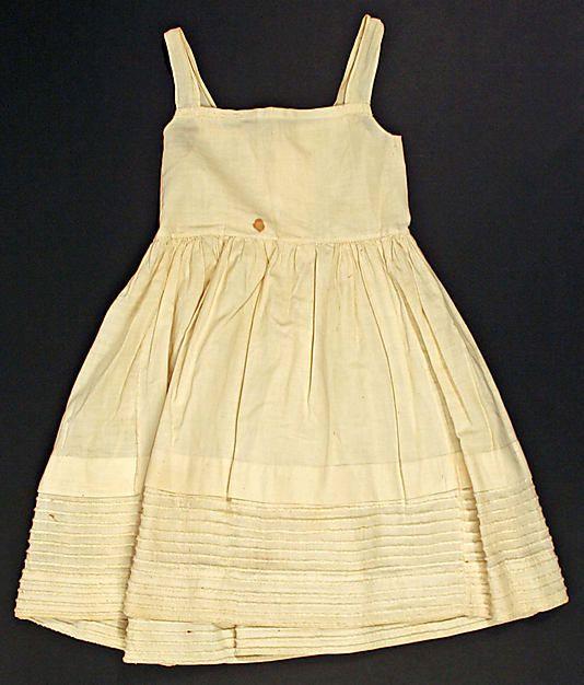 ca. 1838, Bodiced Petticoat für Kinder, aus Baumwolle ...