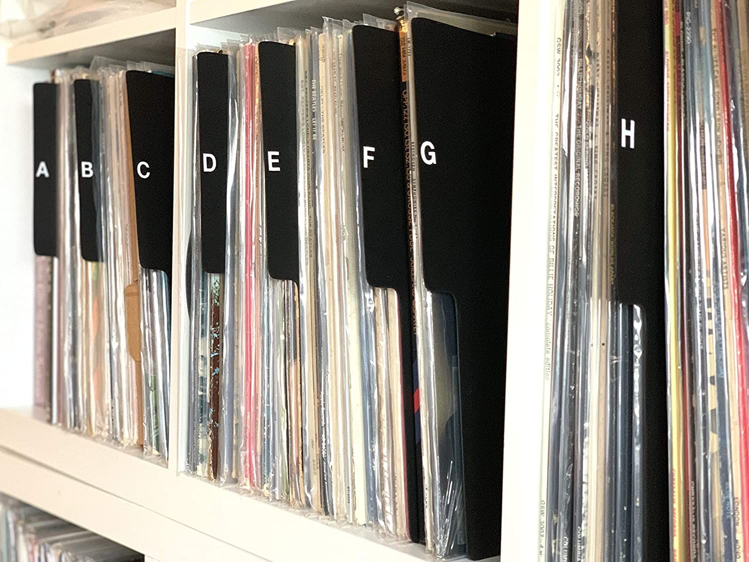 A to z black vertical vinyl record dividers record