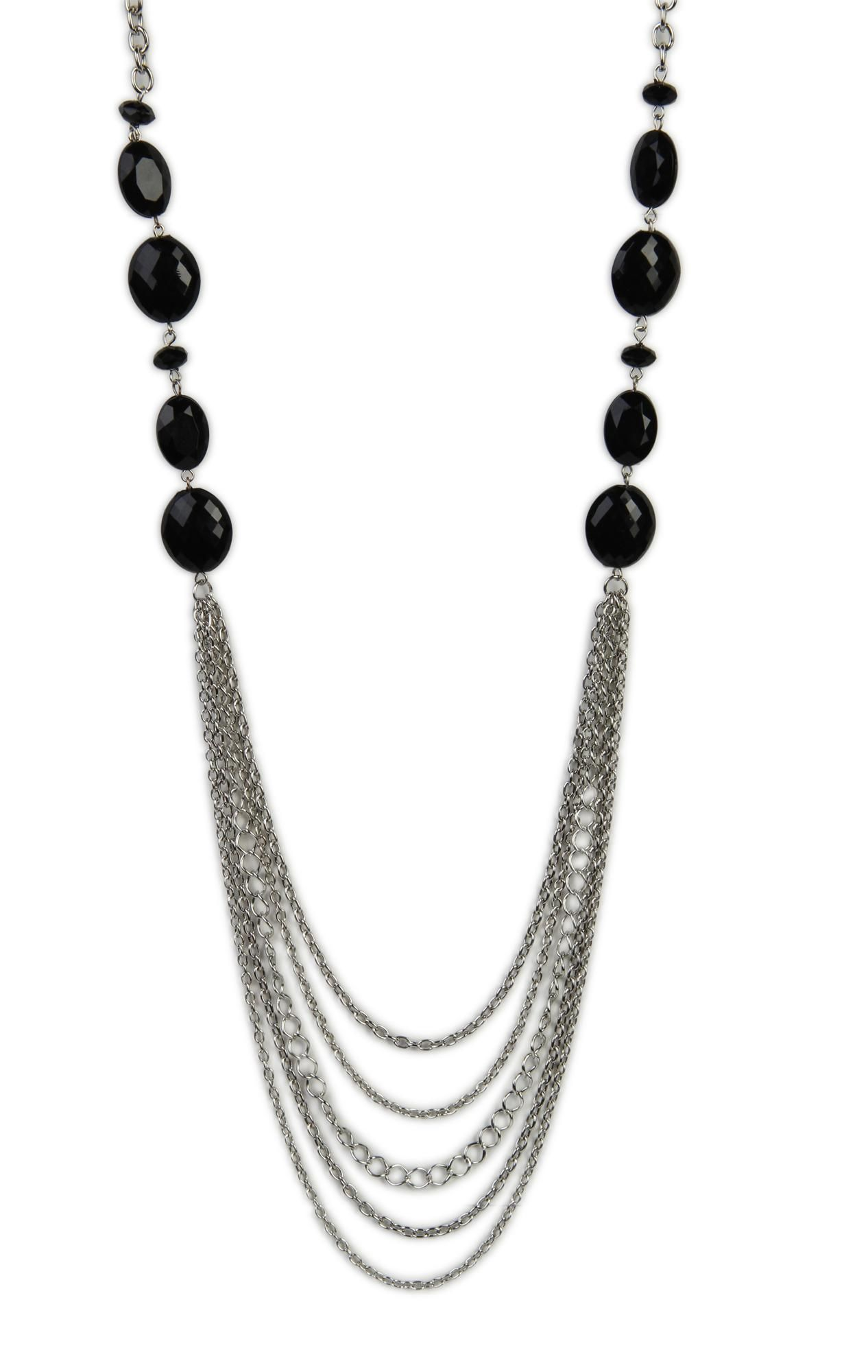 Multi Chain Necklace With Bead Stations 9 37