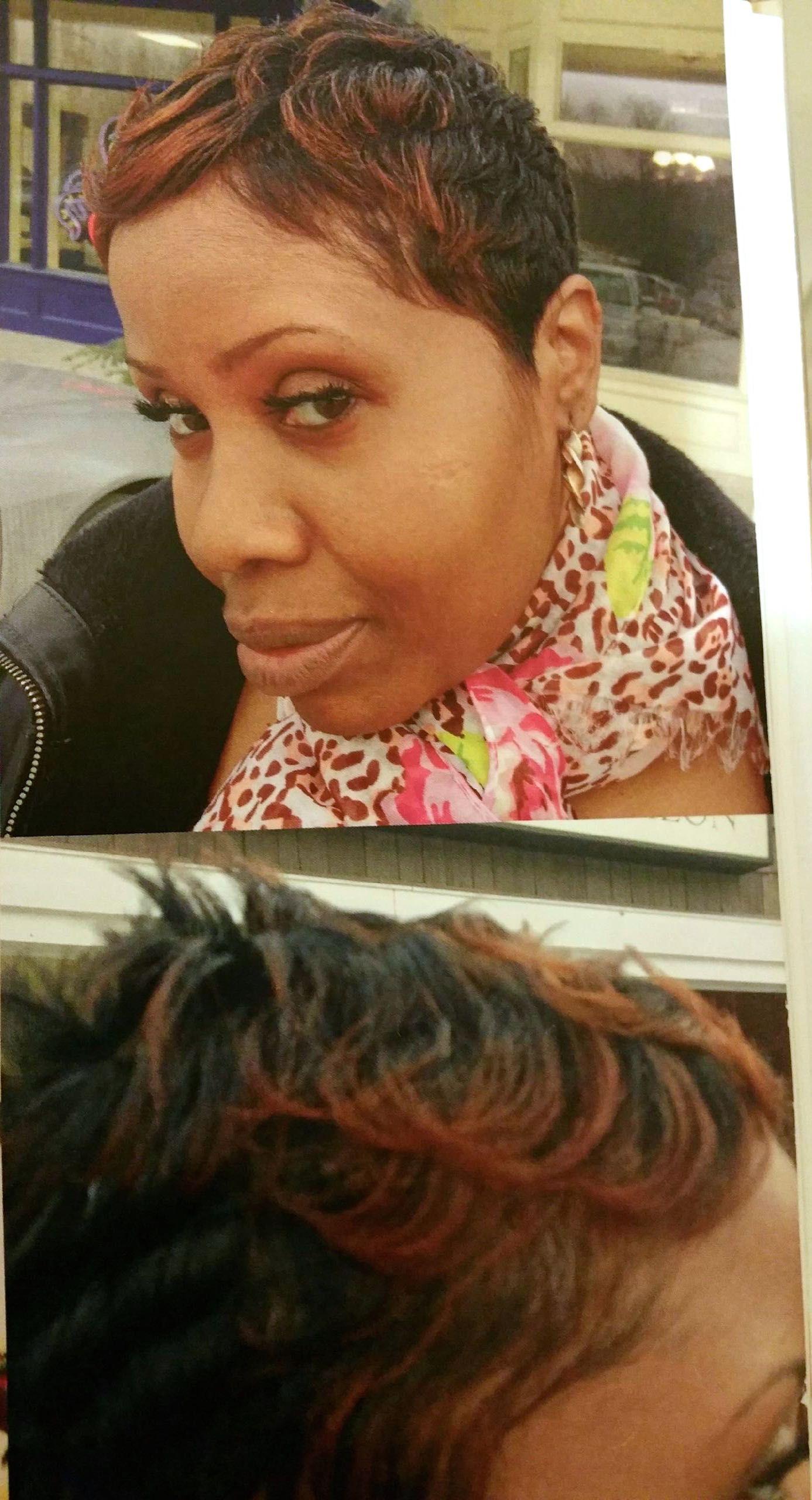 Short pixie haircut wavy caramel color colorpops spikes