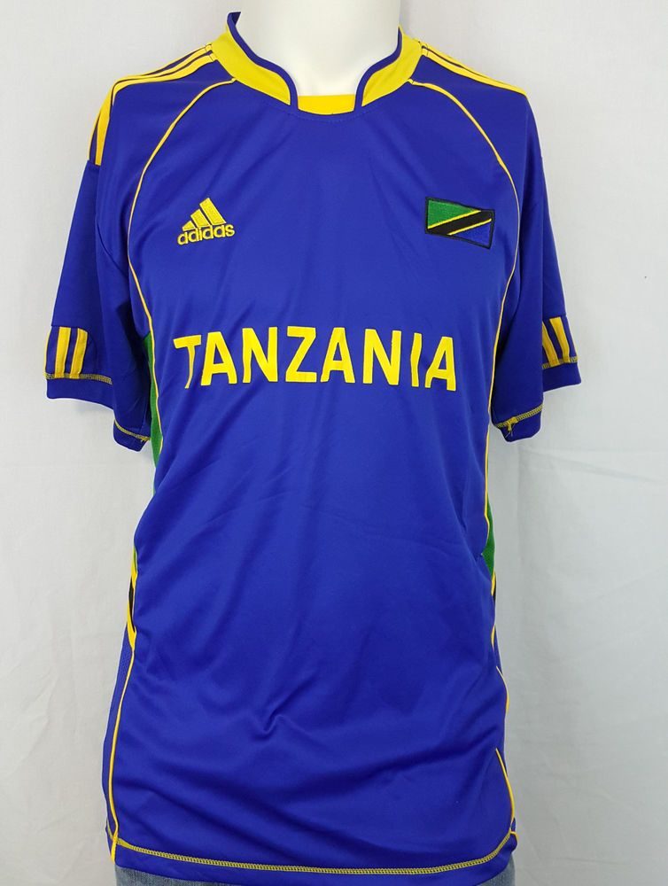 7ab4a5bad Tanzania National Soccer Football Team Adidas Jersey Blue Africa ClimaCool  XXL  adidas  Tanzania