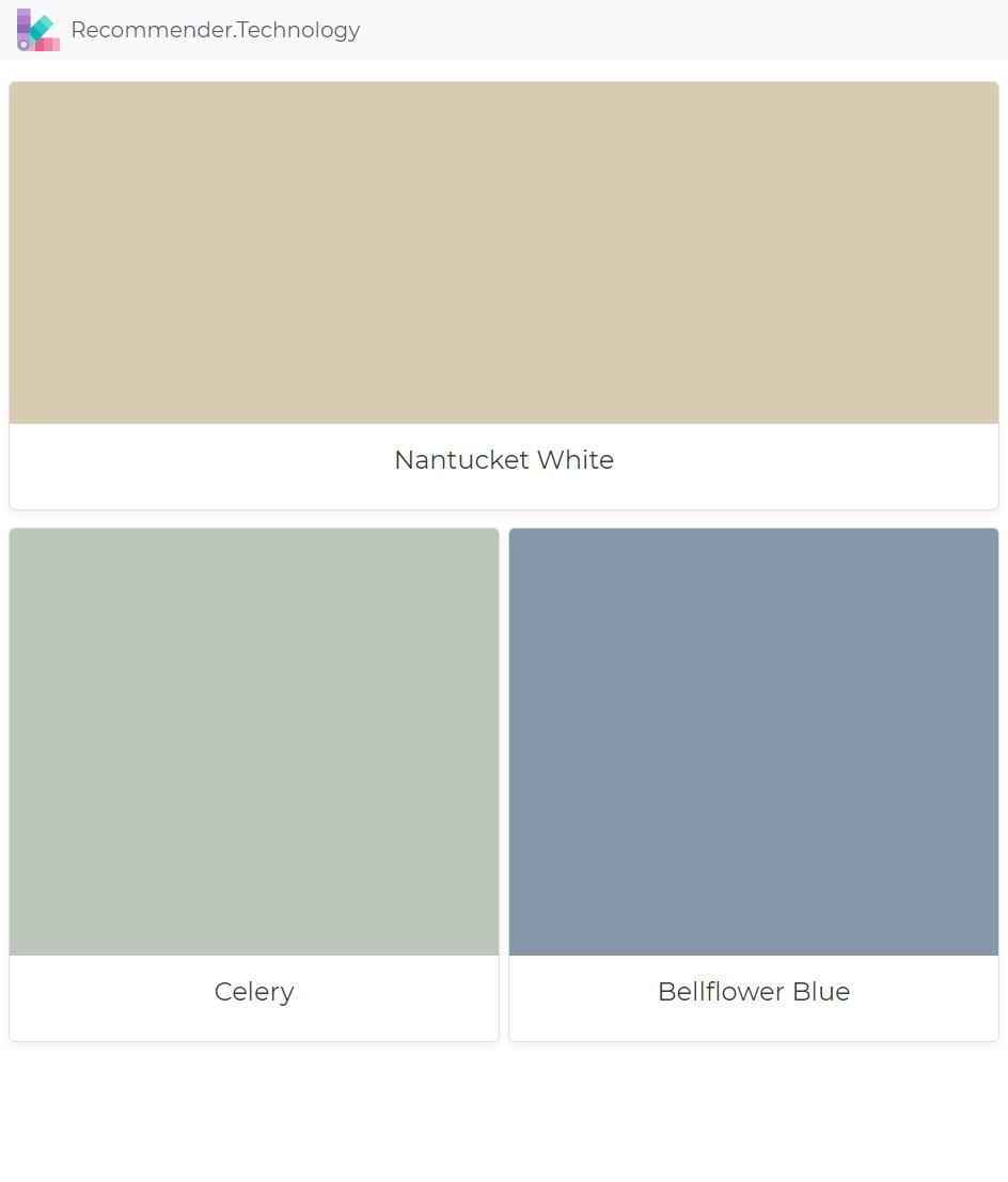 Nantucket White Celery Bellflower Blue Brown Color Palette Ralph Lauren Paint Ralph Lauren Paint Colors
