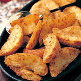 وصـفـات مـيـرو طريقة عمل بطاطس ودجز Potato Wedges Recipe Healthy Cooking Restaurant Recipes