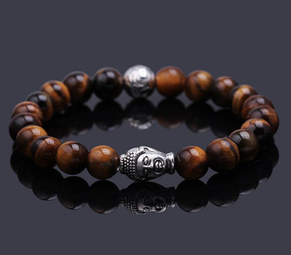 Buddha Bracelet | Tiger Eye Beads