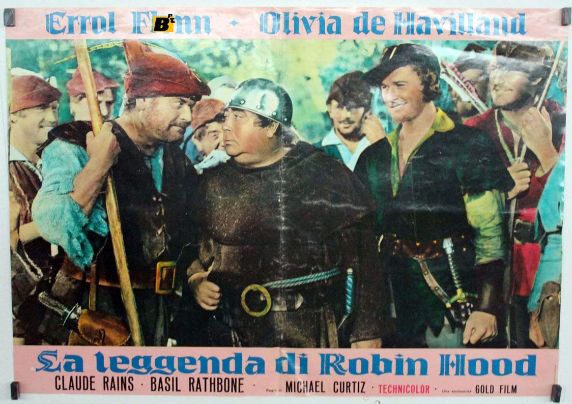 poster for Robin Hood starring Errol Flynn and Olivia De Havilland!