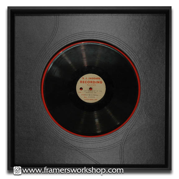 I Like The Texture Of The Matting Framed Records Picture Arrangements Vinyl Records