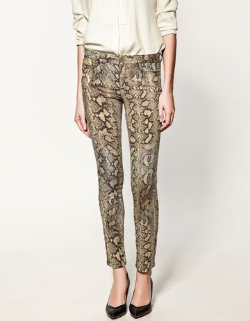 beab6dd1e524c Snake Print Trousers oh yeah. Zara. | My Personal Stye Picks/ Buyer ...