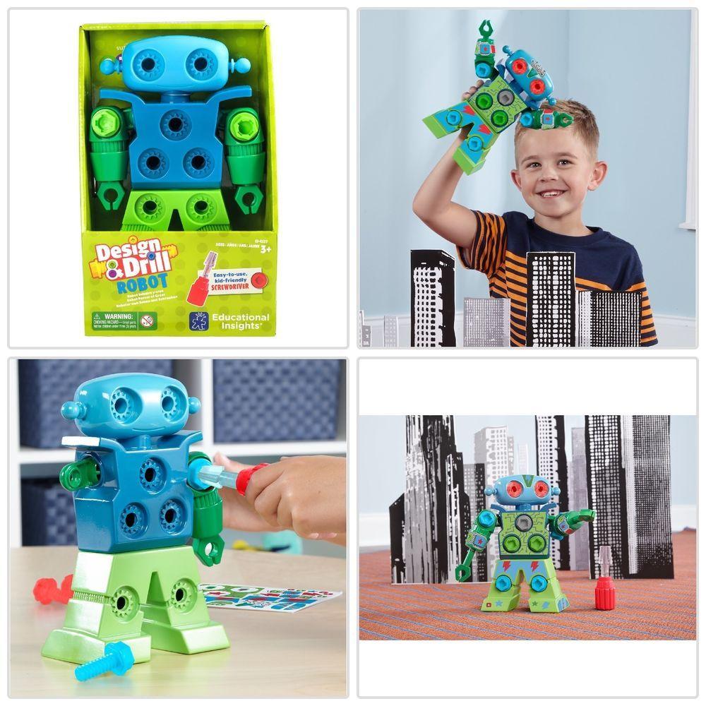 Educational Robot Design & Drill For Kids Preschool Boys ...