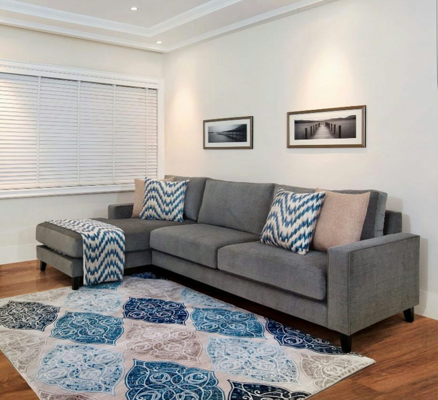 Idanre Blues Look Living Room Grey Grey Couch Living Room