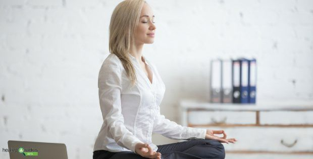 Easy Yoga Poses A Business Woman Can Do At Work Easy Yoga Poses Easy Yoga How To Stay Healthy