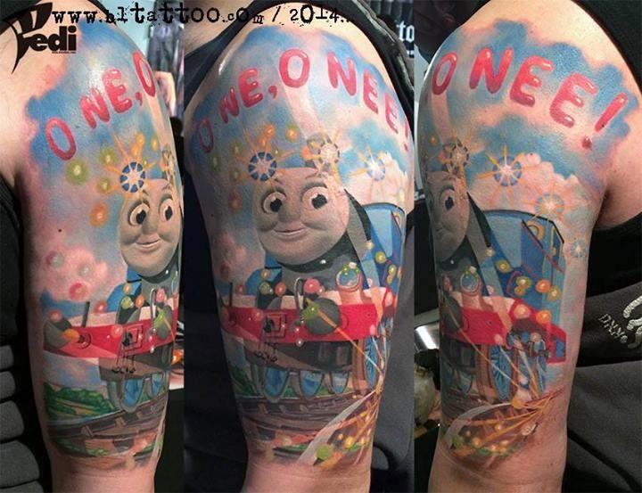 Thomas The Tank Engine Tattoo by Igor Pesic Pedi: TattooNOW