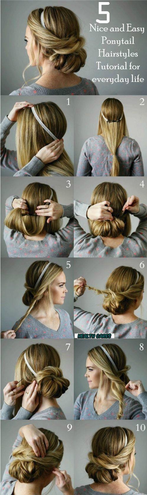 easy ponytail hairstyles quick u easy girls hairstyles hair