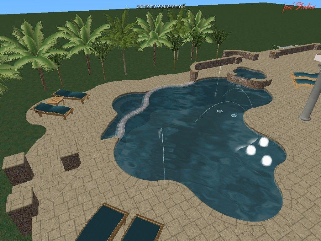 3d Pool Design Swimming Pool Design Software With Images 3d Pool Swimming Pool Designs Pool Designs