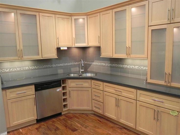 mesmerizing-maple-kitchen-cabinets-with-gray-granite ... on Gray Countertops With Maple Cabinets  id=63297