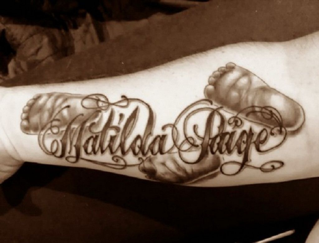 Nice name tattoo designs - Arm Name Tattoos Jpg 1024 780