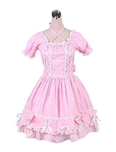 130dbe9dd59f64 antaina Pink Cotton Lace Bows Ruffle Sweet Retro Victoria ...