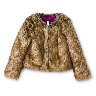 Girls' Faux Fur Coat by: Target | Beautifully Bundled Up ...