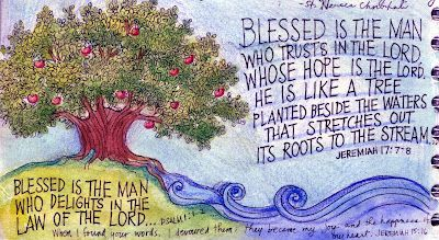Blessed Is the Man: Prayer Journal Illustration by Peggy