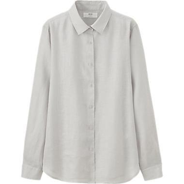 sortie de gros capture texture nette Chemise Lin Premium FEMME | clothing wishlist | Uniqlo ...