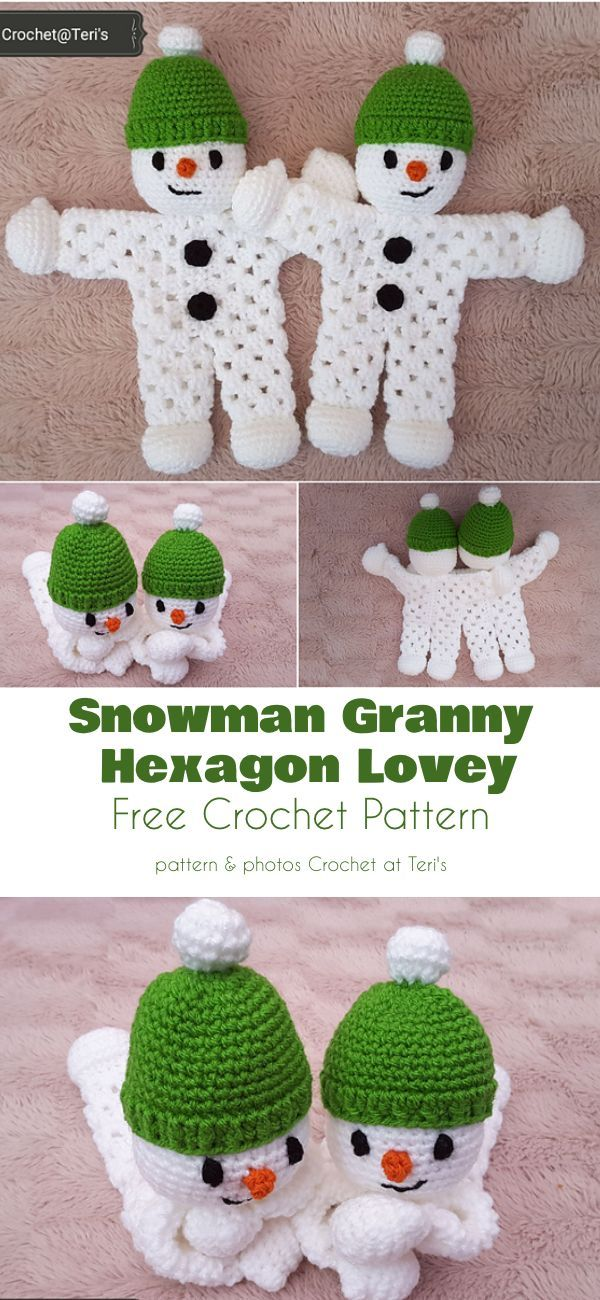 Snow-Themed Toys Free Crochet Patterns