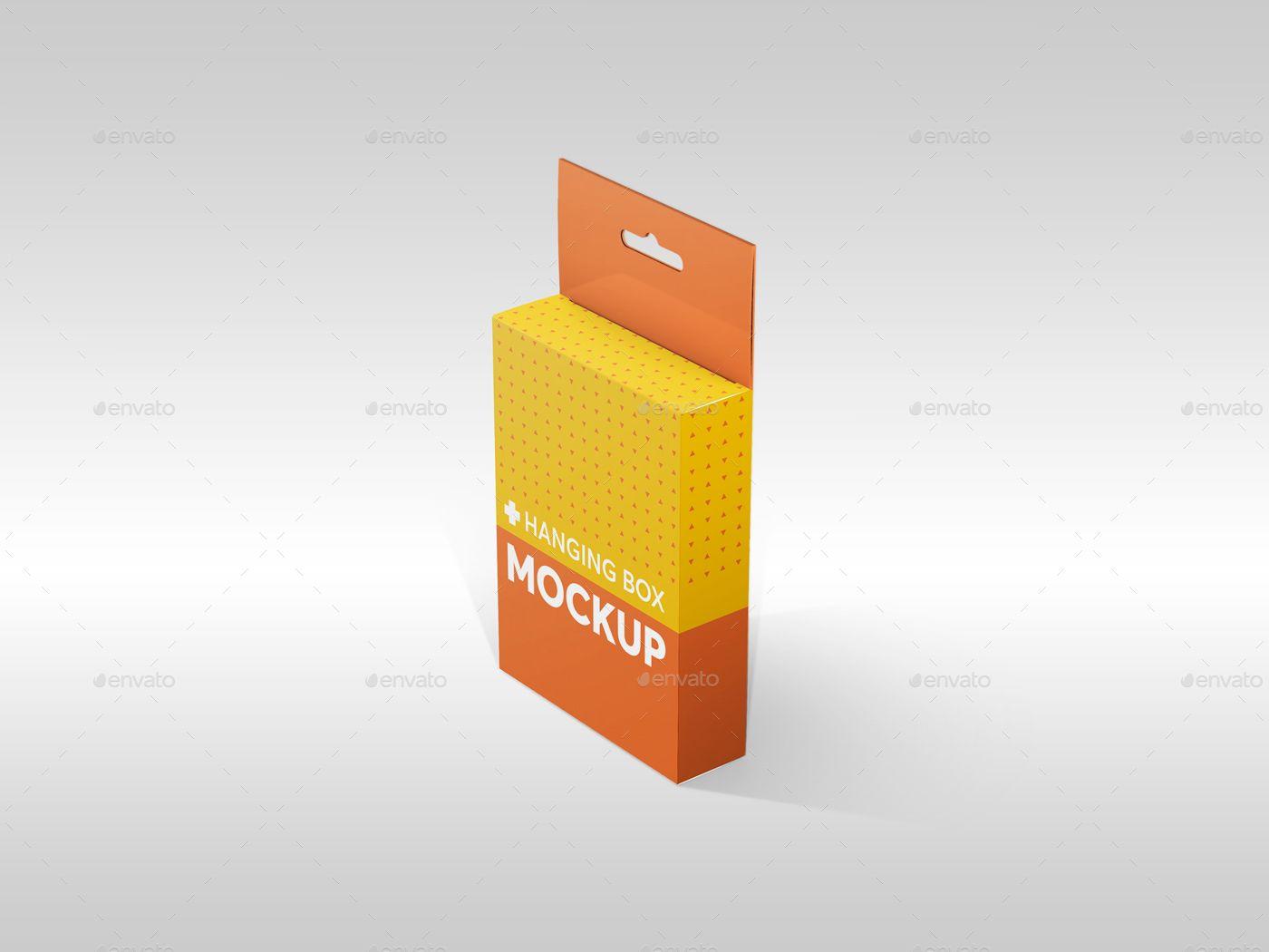 Download Hanging Flat Rectangle Box Mockups Box Mockup Box Packaging Design Mockup