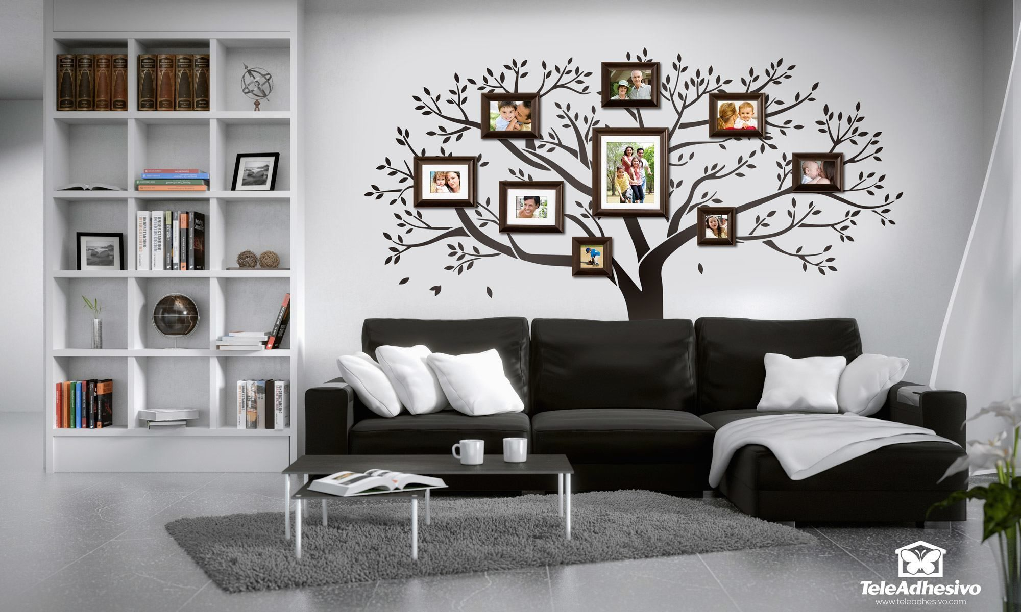 Vinilo decorativo rbol geneal gico sweet home pinterest - Vinilo decorativo arbol ...