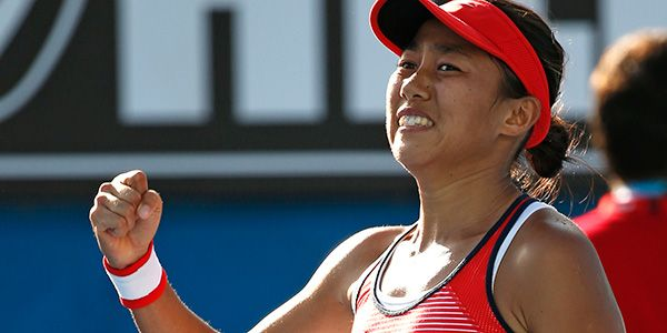 Emotions Zhang S Win Over Halep Tears Up Everyone Including Wta Players Women S Tennis Blog Tennis Event Emotions Grand Slam