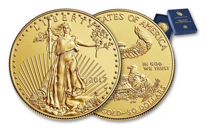 2017 W 50 Dollar 1 Oz Gold Eagle Burnished Bu Mint Packaging Gold Eagle Gold Eagle Coins Gold