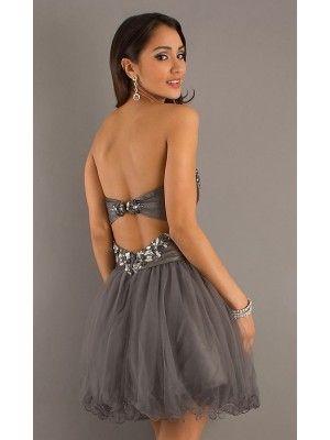 A-line/Princess Sweetheart Ruffles Sleeveless Short/Mini Organza Dress - Short Evening Dresses - Evening Dresses