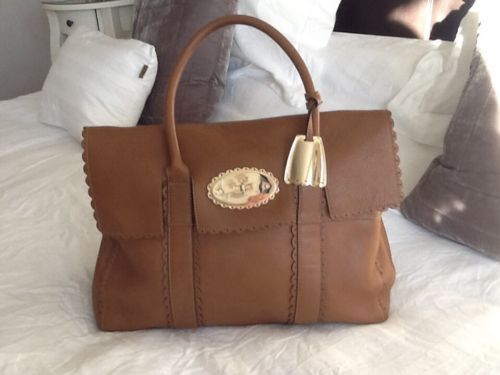 RARE vgc Mulberry Cookie Bayswater In Oak Leather With Receipt Scalloped Edges   eBay