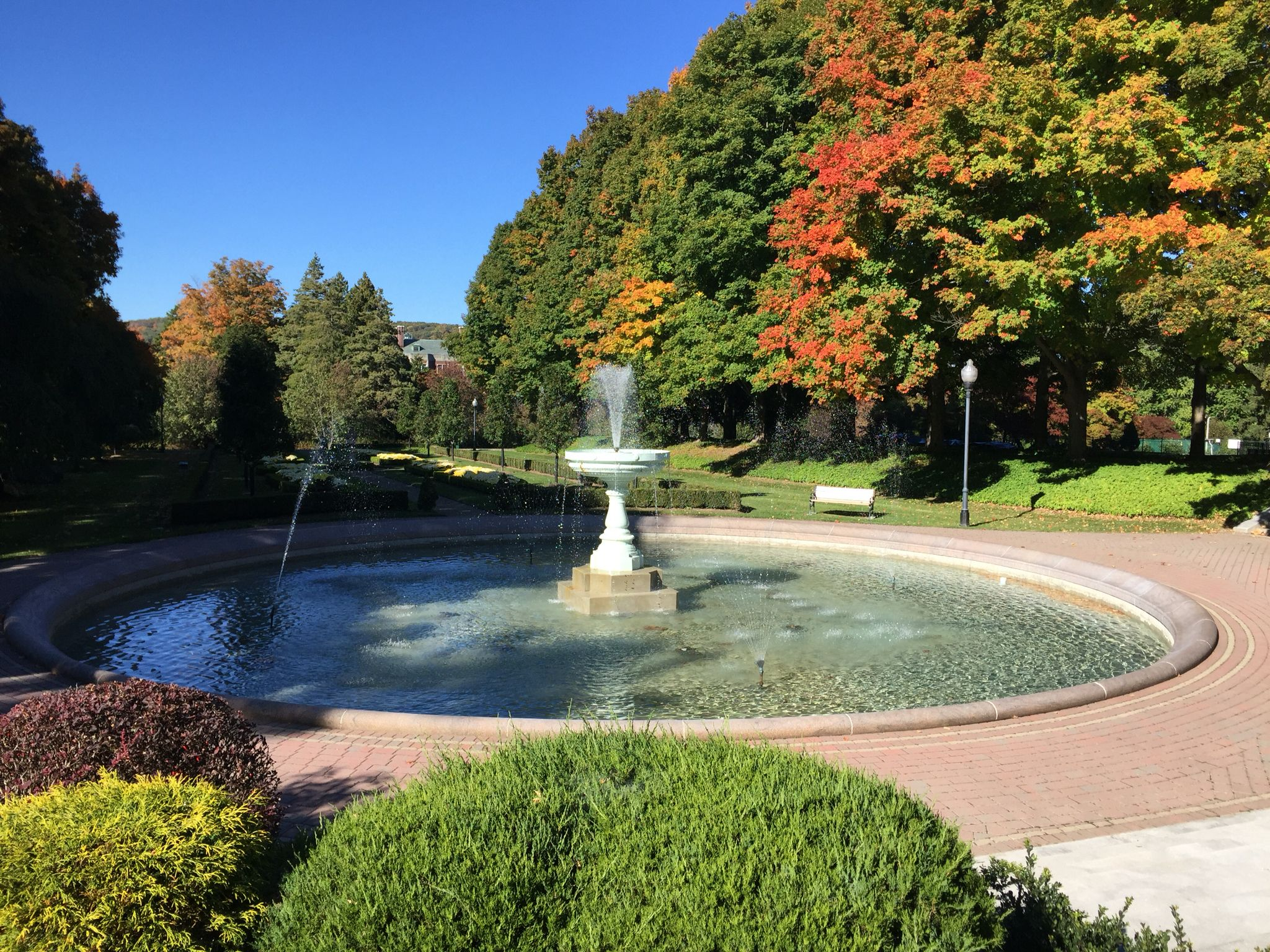 grand fountain in formal