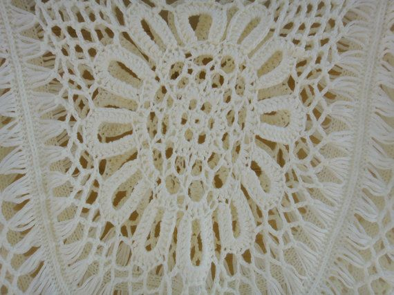 Hippie Fringed Top Crochet Fringed Vest por Tinacrochetstudio