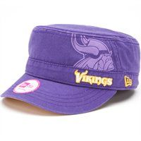 Ladies Minnesota Vikings Military Style Hat. The New Era Ladies Goal-To-Go  Military Adjustable Hat features a large printed Vikings logo with an  embroidered ... db228e3cc