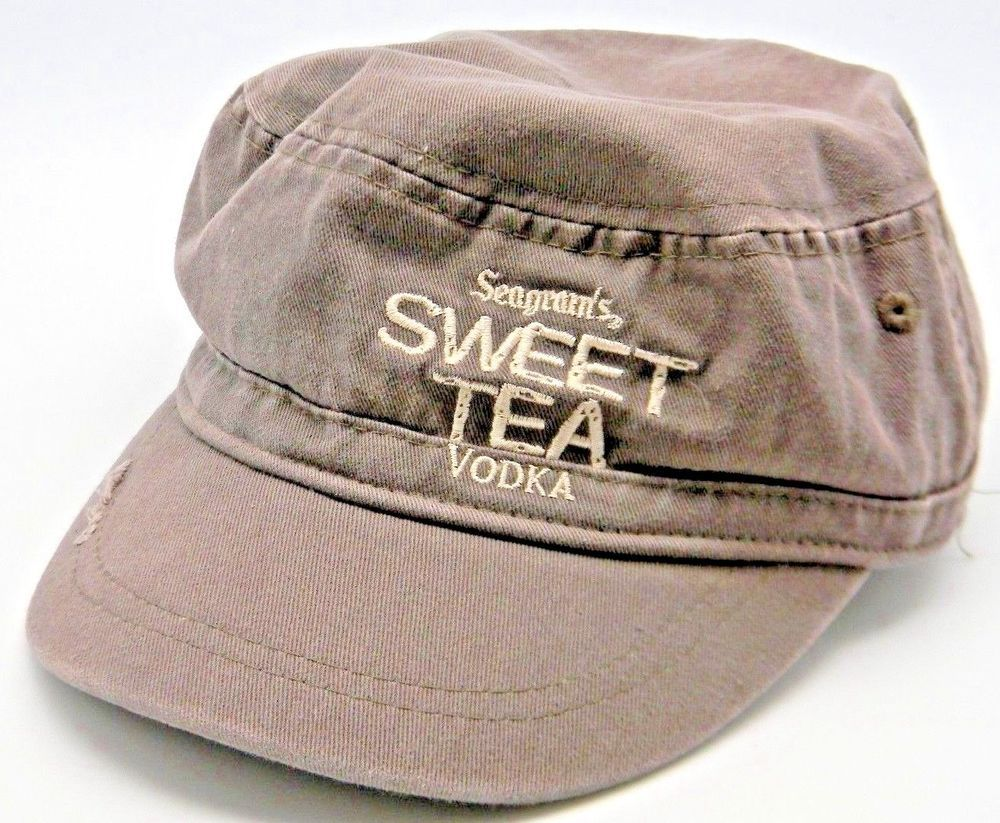 ff6b8446119 Seagram s Wickedly Sweet Tea Vodka Cap Hat Adjustable Strap Embroidery