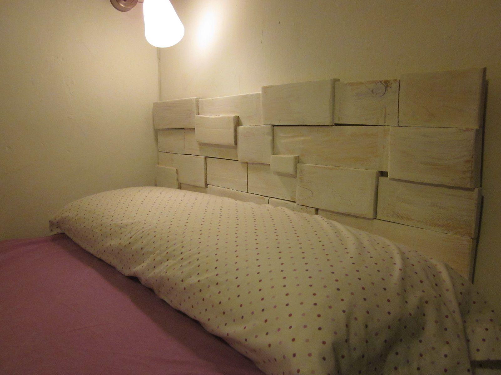 Cabecero hecho con palets respaldos de camas pinterest - Cabeceros cama caseros ...